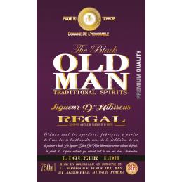 LIQUEUR D'HIBISCUS LDH BLACK OLD MAN  CARTON DE 6 X 75CL