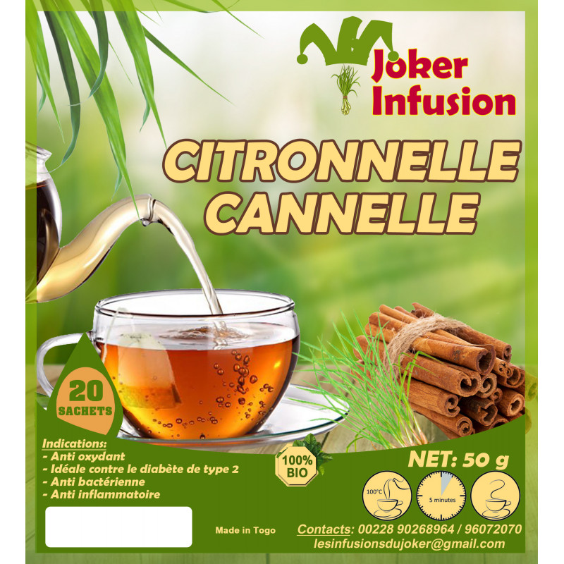 Infusion Citronnelle cannelle