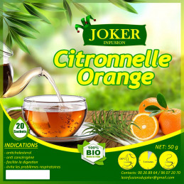 Infusion citronnelle orange
